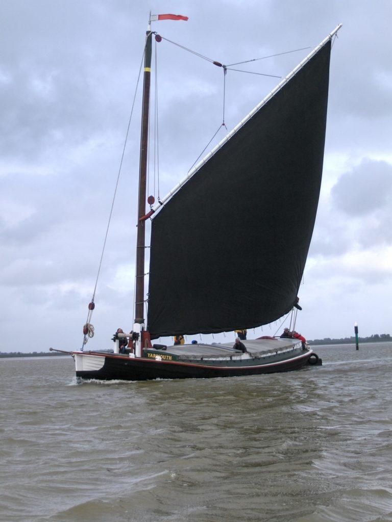Maud across Breydon